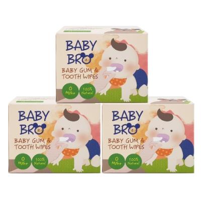 [限時搶購]韓國貝齒樂Baby Bro嬰兒潔牙巾(25包/盒) 3盒組 成人咖啡族可用