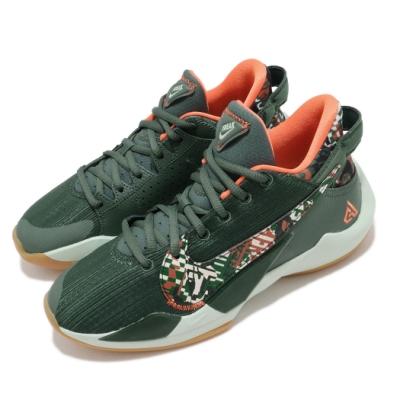 Nike 籃球鞋 Freak 2 運動 女鞋 氣墊 避震 XDR外底 字母哥 大童 綠 橘 DD0012300