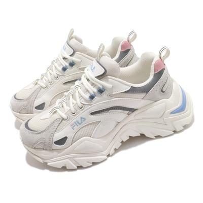 Fila 休閒鞋 Interation Light 女鞋 斐樂 厚底 越野風格 反光 穿搭 白 粉 4C107V152