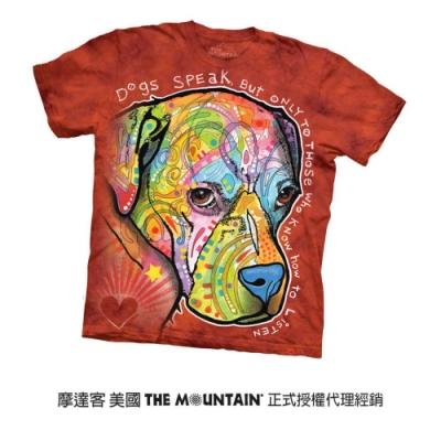摩達客(預購)美國進口The Mountain 彩繪導盲犬 純棉環保短袖T恤