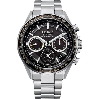 CITIZEN 星辰 GPS衛星對時光動能鈦金屬手錶  CC4015-51E
