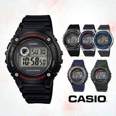 CASIO卡西歐 休閒運動電子錶(W-216H)