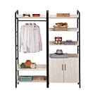 H&D 伊凡卡5.4尺鐵架衣櫃