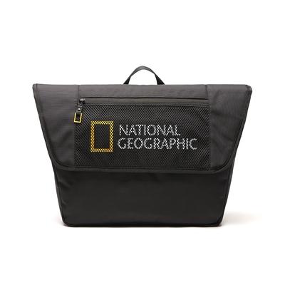 NATIONAL GEOGRAPHIC Big LOGO Messenger Bag V2 斜背包 黑-N211ACR010099