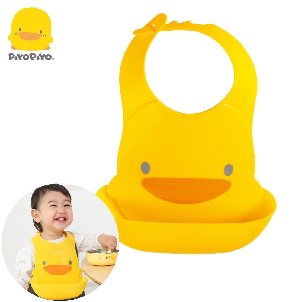 【任選】黃色小鴨《PiyoPiyo》多段式防水圍兜