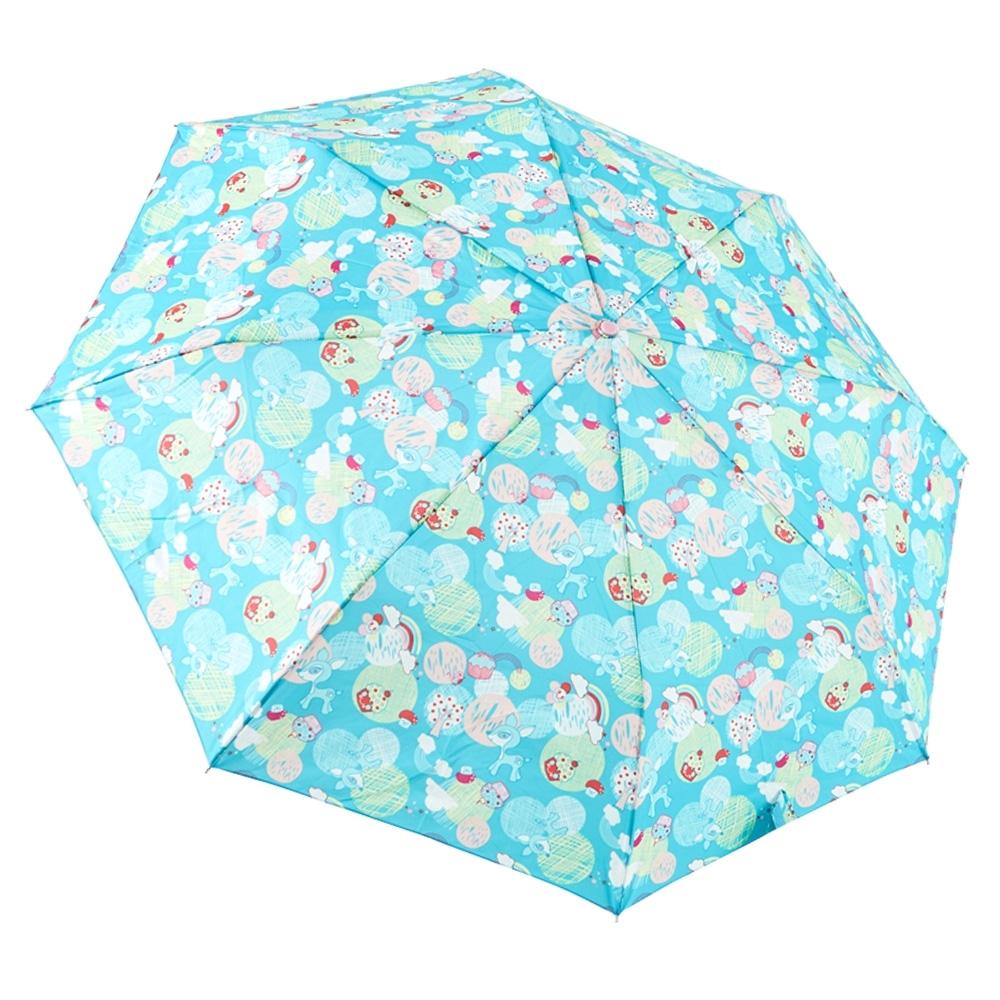 RAINSTORY蘑菇小鹿(藍綠)抗UV隨身自動傘