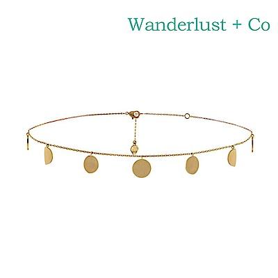 Wanderlust+Co 澳洲時尚品牌 ECLIPSE月光項鍊 金色