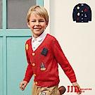 JJLKIDS 英倫徽章V領厚針織外套(2色)