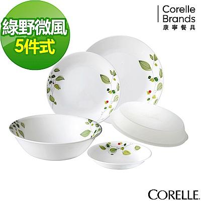 CORELLE康寧 綠野微風5件式餐盤組(501)