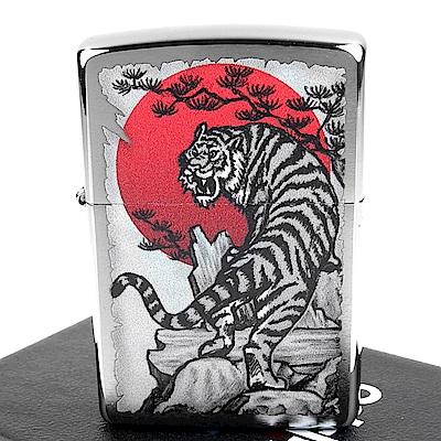 ZIPPO 美系~Asian Tiger-亞洲虎圖案設計打火機