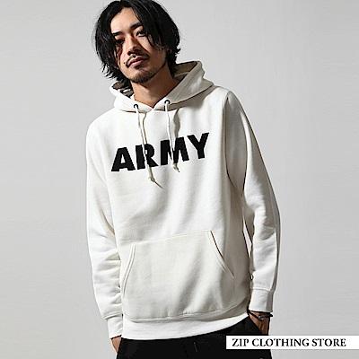 內刷毛印刷連帽大學T恤(20色) ZIP日本男裝