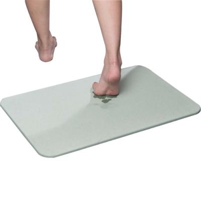 樂嫚妮 加大珪藻土吸水速乾地墊/腳踏墊/浴墊 60X39cm-綠