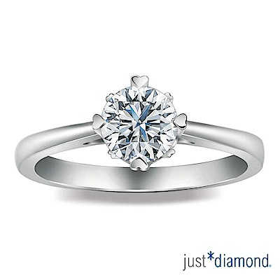 Just Diamond 摯戀真心系列 GIA 0.3克拉 鑽石戒指