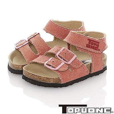 TOPUONE童鞋 輕量減壓吸震腳床型涼鞋-粉