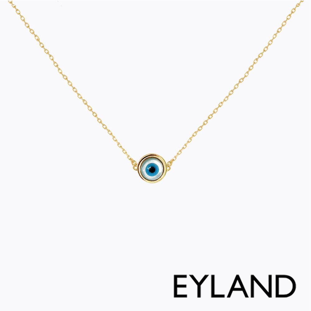 Eyland英國倫敦 FARO 綠松石獨眼鍍金項鍊
