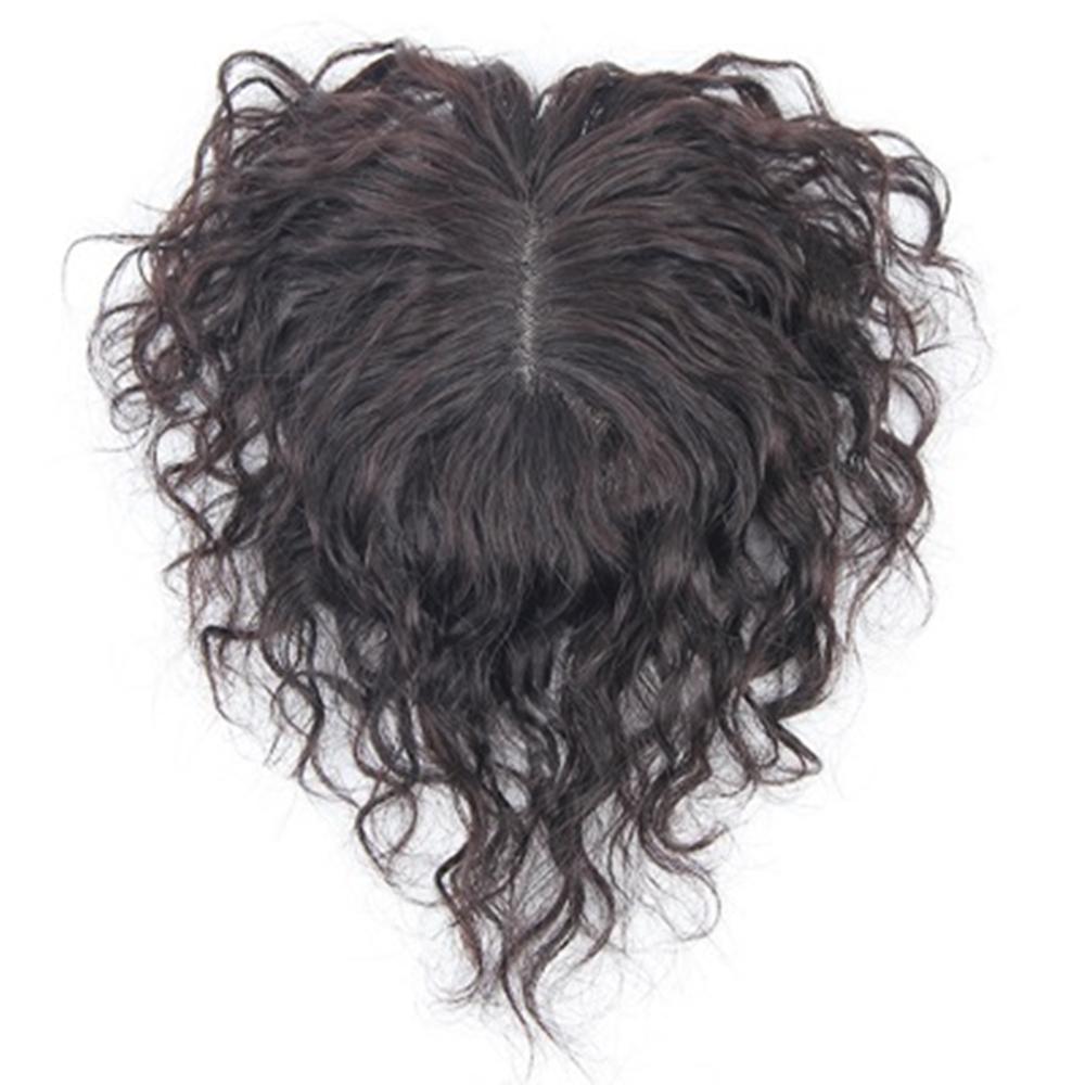 米蘭精品 假髮片真髮絲-20cm捲髮補髮塊透氣女假髮母親節禮物2色73us15