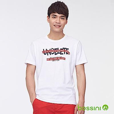 bossini男裝-印花短袖T恤45白