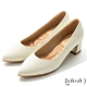 DIANA 5.5 cm 獨家絲光牛皮防磨枕頭尖頭跟鞋 –質感氛圍–米白 product thumbnail 1