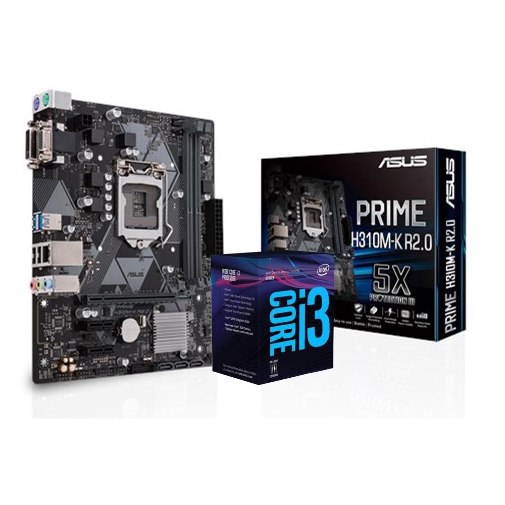 華碩 PRIME H310M-K R2.0 +Intel i3-9100F