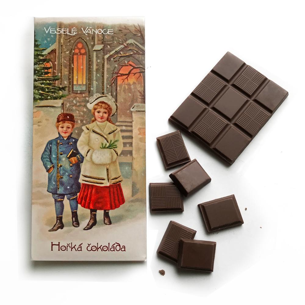 捷克 波西米亞禮讚 黑巧克力-聖誕快樂(100g)