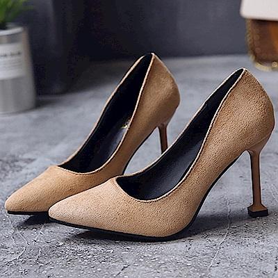 KEITH-WILL時尚鞋館 歐洲款縹緲情愫細跟鞋-杏色