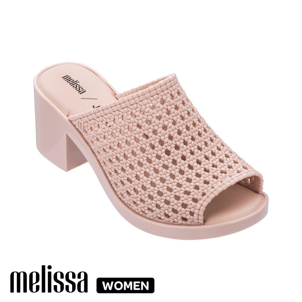 Melissa x Jason Wu聯名編織紋跟高鞋 粉