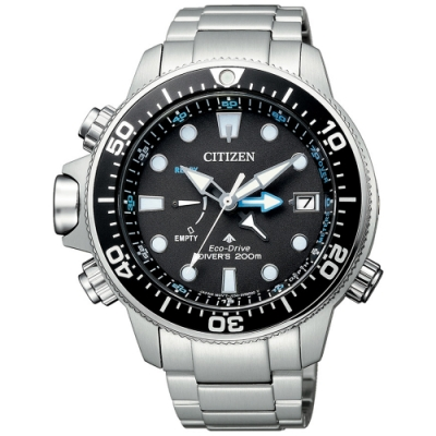 CITIZEN星辰 深海泰坦光動能潛水錶(BN2031-85E)-銀x黑/46.1mm