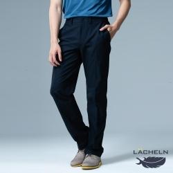 【LACHELN】抗UV吸排快乾休閒男紳士褲-L91M703藏藍色