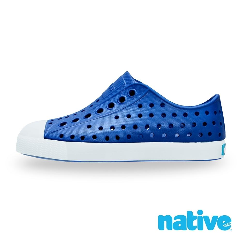 native 小童鞋 JEFFERSON小奶油頭鞋-維多利亞藍x夜光