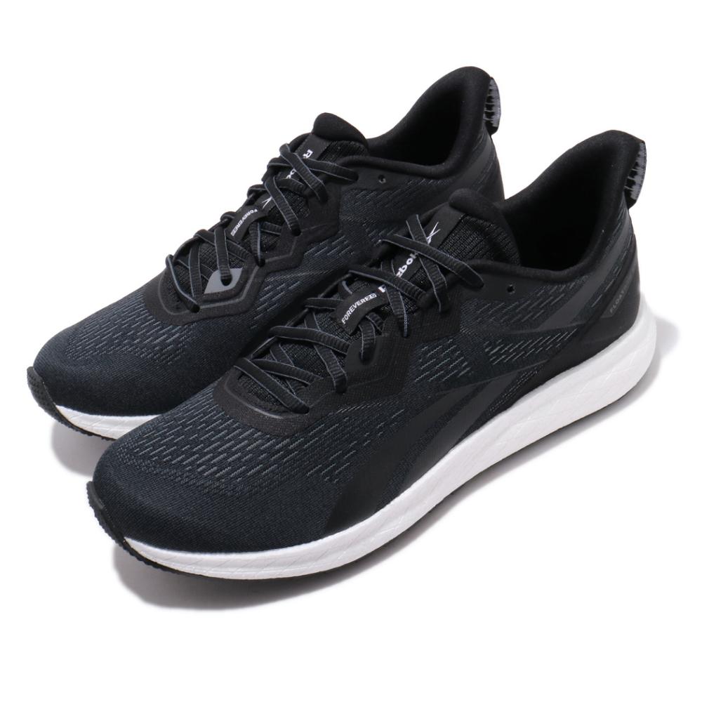 Reebok 慢跑鞋 Forever Floatride 男鞋 輕量 透氣 舒適 避震 路跑 健身 黑 白 EF6914
