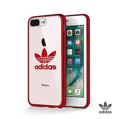 adidas iPhone 7/8 Plus 電鍍邊框TPU透明軟殼 - 酒紅