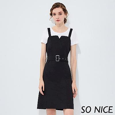 SO NICE時尚造型剪裁背心裙