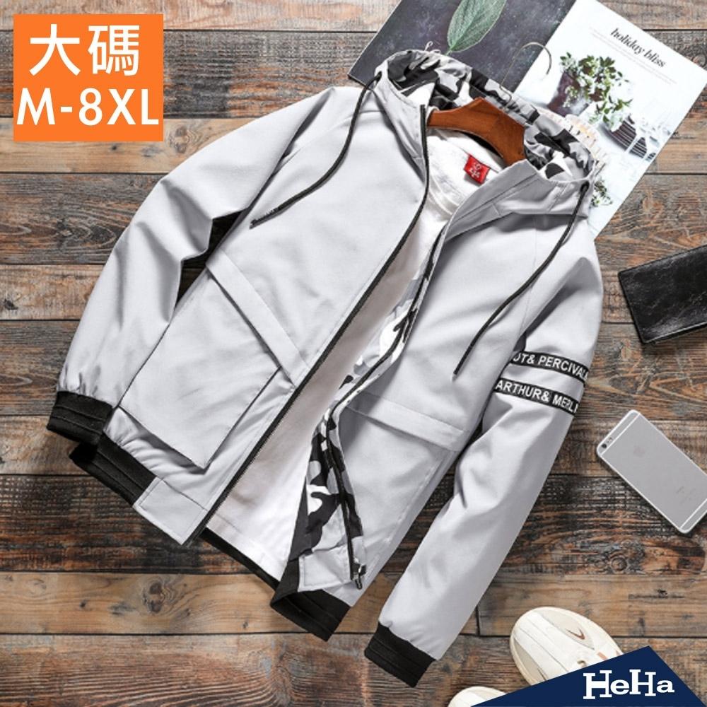 HeHa-迷彩配色連帽夾克外套 三色