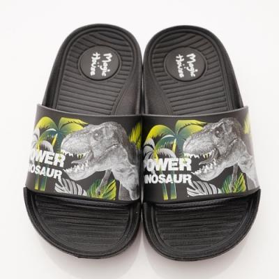 侏儸紀公園童鞋 卡通休閒拖鞋款 NI4716黑(中小童段)