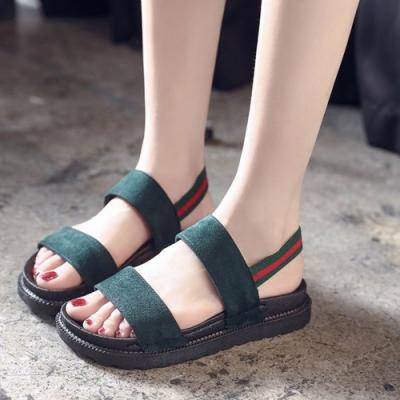 KEITH-WILL時尚鞋館 獨家價雙色時尚運動涼鞋-綠