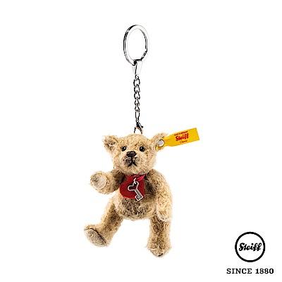 STEIFF德國金耳釦 愛心鑰匙 泰迪熊(羊毛吊飾)