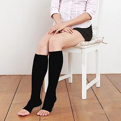 誠益 240丹尼數超細纖維+萊卡漸進式壓力露趾彈性襪-4雙