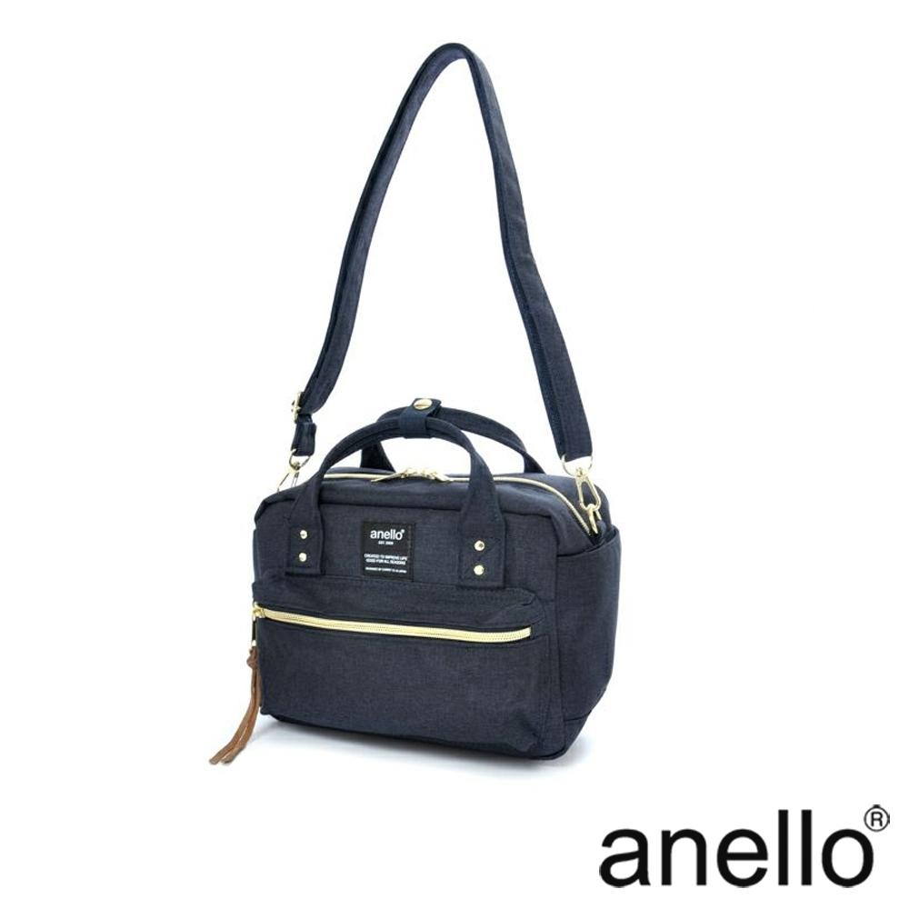 anello 獨特混色花紋手提斜背兩用包 深藍