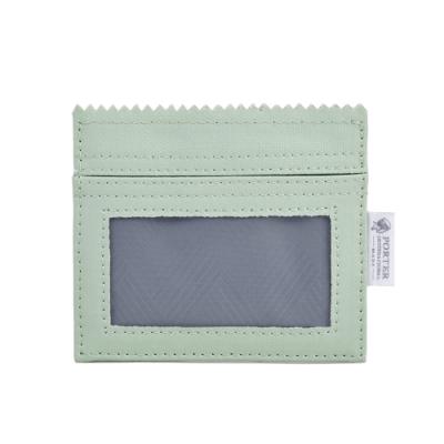 PORTER - 生活選物PUFF橫式掛繩證件套 - 百合綠
