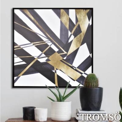 TROMSO 時尚風華抽象有框畫大幅-摩登輝煌W971