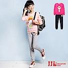 JJLKIDS 可愛女孩休閒長袖套裝(2色)