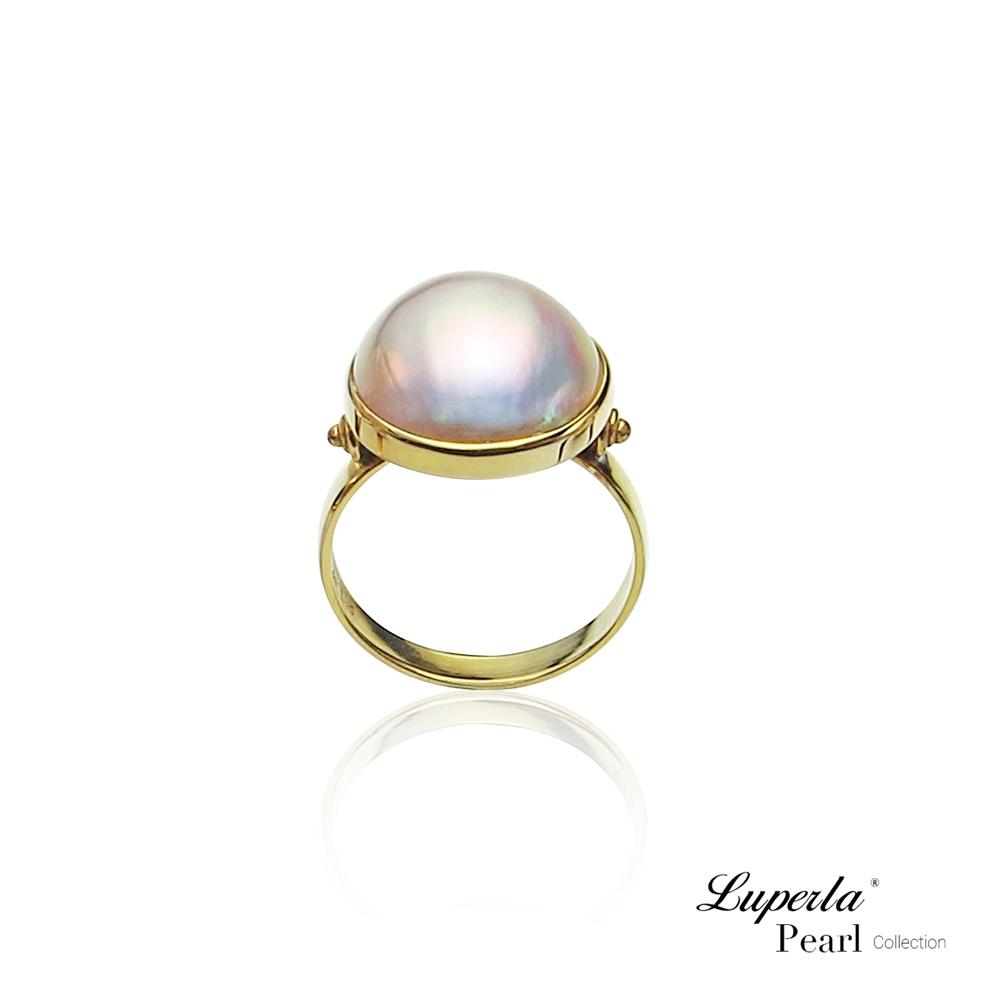 大東山珠寶 海水馬貝珍珠14K金戒指 夢幻之珠 雅典之星