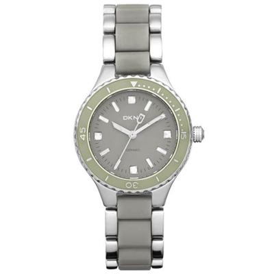 DKNY 柔情風姿典雅晶鑽腕錶-灰-NY8501-32mm