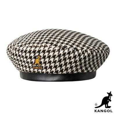 KANGOL-TOOTH GRID 貝蕾帽-黑白色