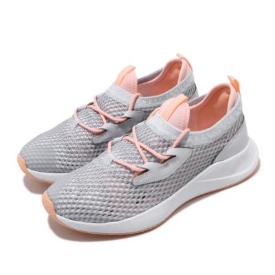 UA 慢跑鞋 Charged Breathe 運動 女鞋 襪套 輕量 透氣 舒適 避震 球鞋 灰 粉 3022585105
