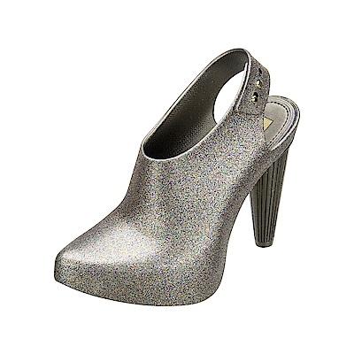 MELISSA 摩登女郎造型跟鞋-銀