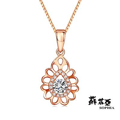 蘇菲亞SOPHIA 鑽鍊-深情0.30克拉玫瑰金鑽石項鍊