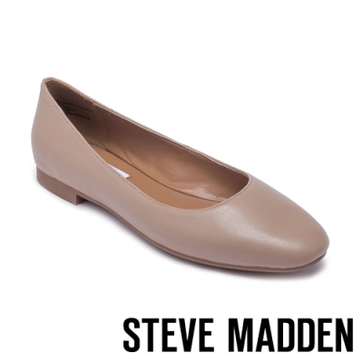 STEVE MADDEN-DANNI 清新百搭 素面平底娃娃鞋-米膚色