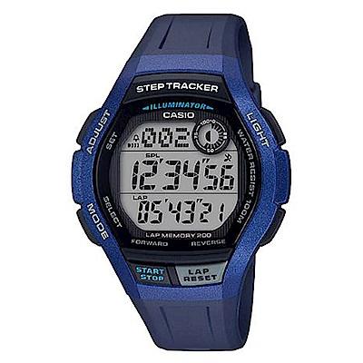 CASIO 樂活首選輕量大錶面運動休閒(WS-2000H-2A)藍框/49.3mm