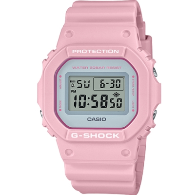 CASIO G-SHOCK 繽紛5600方塊電子錶(DW-5600SC-4)